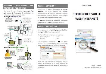 Aperçu Fiche outil CDI : rechercher sur le Web - internet (p1)