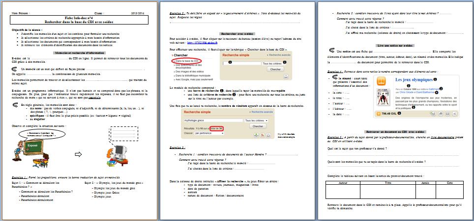 Fabuleux Info-doc : la recherche sur esidoc (séance 4) | fenetresur PJ74